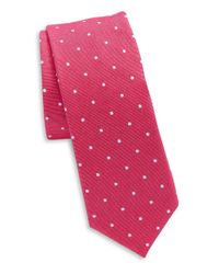 Original Penguin | Red Silk And Cotton Tie for Men | Lyst