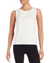 Tahari - White Petite Knotted Shell - Lyst