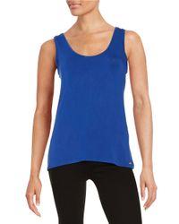 Calvin Klein | Blue Roundneck Knit Tank | Lyst