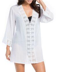 La Blanca | White Island Fare Cotton Tunic | Lyst