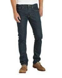 Levi's - Blue 511 Slim Fit Rinsed Playa Jeans for Men - Lyst