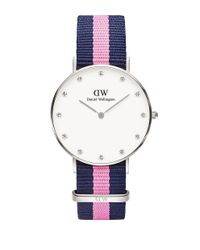Daniel Wellington | Multicolor Classy Winchester Stainless Steel Pink Nylon Strap Watch, 36mm | Lyst