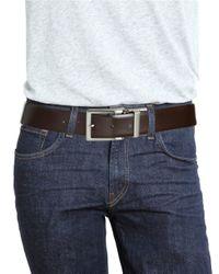 Bosca - Purple Reversible Leather Belt for Men - Lyst