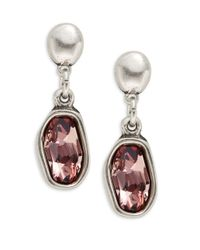 Uno De 50 - Metallic Rhinestone Drop Earrings - Lyst