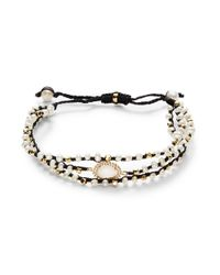 Tai | Black Three-strand Mother-of-pearl Bracelet | Lyst