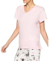 Hue | Pink V-neck Sleep Tee | Lyst