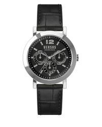 Versus | Black Manhasset Leather-strap Bracelet Watch for Men | Lyst