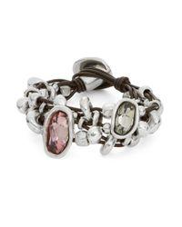 Uno De 50 | Pink Chica Mermelada Rhinestone Toggle Bracelet | Lyst