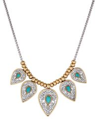 Lucky Brand | Blue Baltic Wonders Reconstituted Calcite & Rock Crystal Collar Necklace | Lyst