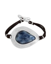 Robert Lee Morris | Blue Cool As Ice Sodalite & Leather Toggle Bracelet | Lyst