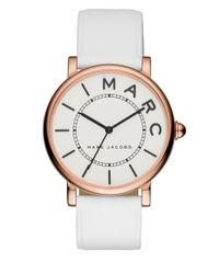 Marc Jacobs - White Roxy Rose Goldtone Stainless Steel And Leather Three-hand Strap Watch - Lyst