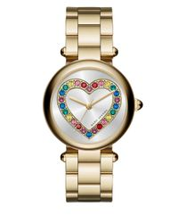 Marc Jacobs   Metallic Dotty Goldtone Stainless Steel Heart Three-hand Bracelet Watch   Lyst