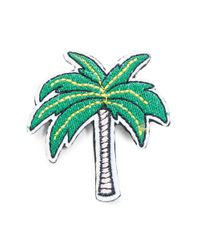 R.j. Graziano | Green Palm Tree Patch Pin | Lyst