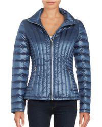 Calvin Klein | Blue Packable Down Coat | Lyst