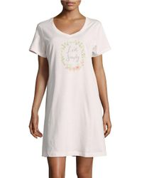 Carole Hochman | Pink Live Simply Graphic Sleepshirt | Lyst