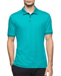 Calvin Klein | Blue Men's Liquid Cotton Polo Shirt for Men | Lyst