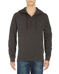Lucky Brand | Gray Hooded Henley Top for Men | Lyst