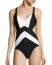 MICHAEL Michael Kors | Black Regatta X-back One-piece Swimsuit | Lyst