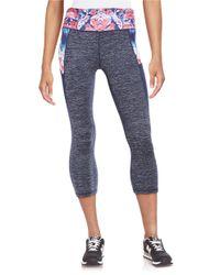Nanette Lepore | Blue Contrast Cropped Athletic Leggings | Lyst