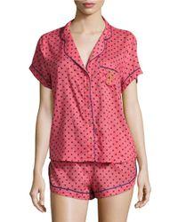 Juicy Couture | Orange Valentine Dots Sleep Set | Lyst