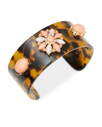 R.j. Graziano | Multicolor Tortoise And Floral Cuff Bracelet | Lyst