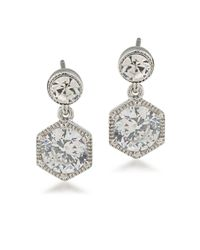 Lauren by Ralph Lauren | White Headlines Crystal Drop Earrings | Lyst