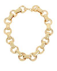 Robert Lee Morris | Metallic Circle Link Collar Necklace | Lyst