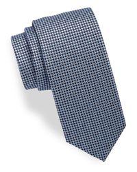 HUGO | Blue Patterned Silk Tie for Men | Lyst
