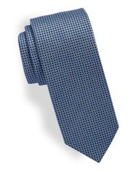 HUGO | Blue Patterned Silk Tie for Men | Lyst