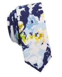 Original Penguin   Blue Woven Cotton Tie for Men   Lyst