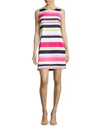 Vince Camuto | Multicolor Sleeveless Striped Dress | Lyst
