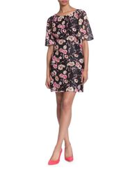 Plenty by Tracy Reese | Black Giana Floral Printed Shift Dress | Lyst