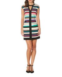 Laundry by Shelli Segal - Multicolor Striped Dress - Lyst