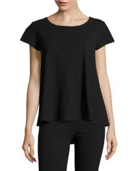 Calvin Klein | Black Textured Performance Tee | Lyst