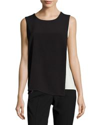 Calvin Klein | Black Colorblocked Layered Shell | Lyst