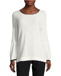 Calvin Klein | White Textured Contrast Sweater | Lyst