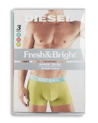 DIESEL - Green Three-pack Logo Boxers Set for Men - Lyst