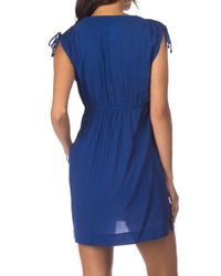 Lauren by Ralph Lauren Blue Cotton Sleeveless Dress