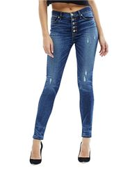 Hudson Jeans | Blue Ciara High-rise Button Fly Skinny Jeans | Lyst