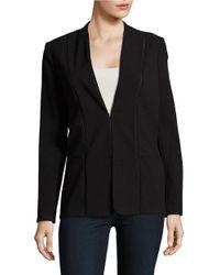 T Tahari | Black Open Stitched Rhonda Jacket | Lyst