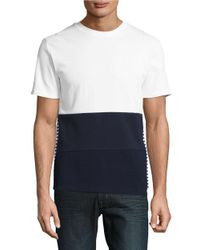 Plac | White Colorblocked Tee for Men | Lyst