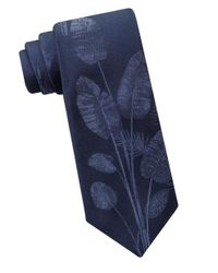 Calvin Klein | Blue Urban Fern Textured Silk Tie for Men | Lyst