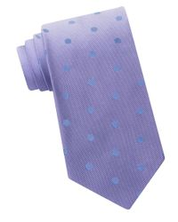 Calvin Klein | Purple Textured Silk Tie for Men | Lyst