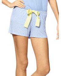 Hue | Blue Flower In Dot Boxer Shorts | Lyst