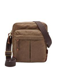 Fossil | Brown Defender Ns City Bag for Men | Lyst