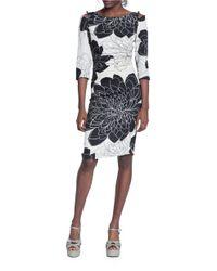 Tracy Reese   Black Floral-print Sheath Dress   Lyst