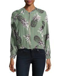 BB Dakota | Green Pineapple Patterned Bomber Jacket | Lyst