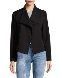 Calvin Klein | Black Ribbed Open-front Jacket | Lyst