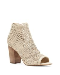 Jessica Simpson | Natural Rianne Woven Booties | Lyst