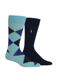 Polo Ralph Lauren - Blue Cotton-blend Socks/2-pack for Men - Lyst